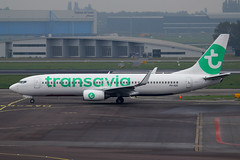 PH-HZE, Amsterdam Schiphol, October 19th 2015 (Southsea_Matt) Tags: phhze boeing 7378k2 transavia october 2015 autumn schiphol ams eham amsterdam holland thenetherlands canon 60d aircraft plane aviation airport transport
