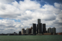 Clouds Over The City. Windsor, ON. (Paul Thibodeau) Tags: photooftheday windsor nikond500 35mm riverfront detroit detroitriver skyline clouds