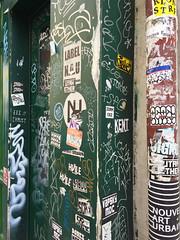 Graffiti (david ross smith) Tags: paris france graffiti art ad poster sign signage 11tharr 11tharrondissement text
