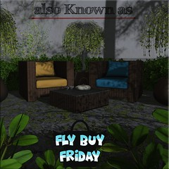 also Known as - Oahu lounge furniture for Fly Buy Friday- Square (~ also Known as ~ (Second Life)) Tags: alsoknownas akahatasl rattan garden homeandgarden flybuyfriday oahu lounge chairs 3d animated virtualworlds secondlife sl mainstoresl mainstore