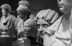Roman Busts (peterkelly) Tags: digital bw canon 6d toronto ontario canada northamerica royalontariomuseum rom bust marble sculpture statue roman woman