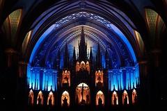 Beautiful back-light (samytux) Tags: montreal montréal québec canada church notredame dome christ lights colors iglesia domo cristo luces colores aura