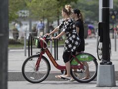 Woman on CaBi Bike (dckellyphoto) Tags: eoshe woman bike female biking cycling dc cabi washingtondc districtofcolumbia 2018 bikeshare wharf