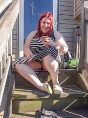 How is everyone doing today? I am hanging out enjoying the sun and reading my Ebook. (BBW Renee Patreon Members(Please Read my Profile)) Tags: sexy milf bbw women hot dress upskirt panties