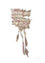 The focus stays (Ines Seidel) Tags: news lyrics words newspaper altered machinestitching paper sale zeitung überschrift headlines worte poem nähen redthread