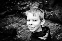 77/365 B&W (lucyrogersphotography) Tags: blackandwhite nephew child boy 8yearsold portrait smile cute adorable family nikon photochallenge 365 bw lucyrogersphotos