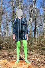 Tights and nightdress (wetmuddy) Tags: outdoor forest spring pajamas pyjama pirama nightdress schlafanzug nachthemd tights pantyhose fun strumpfhose