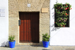 Casa nº 17 (ricardocarmonafdez) Tags: andalucía córdoba puerta door ventana window reja flores flowers macetas pots sunlight color 60d 1785isusm canon