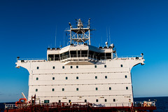 My Cabin Top 2  windows on the left (langdon10) Tags: atsea atlanticocean canon70d laurentiadesgagnes navigation ship tanker nautical ocean