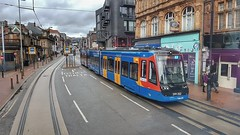 Tram Train 399 202, Sheffield. (ManOfYorkshire) Tags: 399202 class399 tram train tramtrain railway onstreet running gb uk england stagecoach sheffield supertram system glossoprd road rails roadway