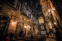 We didn't realise (Melissa Maples) Tags: münchen munich deutschland germany europe nikon d3300 ニコン 尼康 sigma hsm 1020mm f456 1020mmf456 winter asamschurch asamkirche church dark brown sanctuary holidays tree decorations christmas