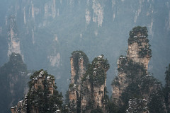 Zhangjiajie National Park (virtualwayfarer) Tags: zhangjiajieshi hunansheng china cn avatar hallelujahmountain zhangjiajie nationalpark nationalforestpark unesco unescoworldheritage worldheritagesite nature wildlife naturephotography dramaticnature landscape dramaticlandscape spires chinese visitchina visithunan hunanprovince incrediblenature lateafternoon cliff cliffs pandora pandoramountains mountains karstformation winter snow snowy naturalwonder republicofchina mistymountains mist 張家界 scenery pillar alexberger virtualwayfarer sonya7rii sonyalpha