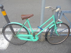 346 (en-ri) Tags: bicicletta sony sonysti verde acqua