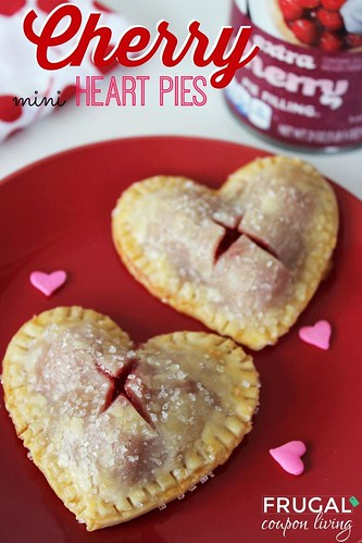 Best Ideas DIY and Crafts Inspiration : Valentines Dessert. Valentine's Day Mini Heart Cherry Pies on Frugal Coupon Livi...