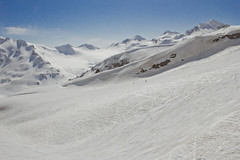 skiers on the slope of mount Elbrus (*ALLA*) Tags: