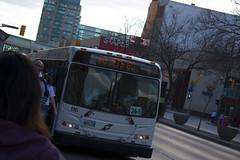 Go Jets Go (TheSamuelYears) Tags: winnipegjets jets winnipeg hockey nhl sports bus transit gojetsgo team vehicle outdoors outside sign led nikond3400 nikon wpg downtownwinnipeg whiteout winnipegwhiteout outdoor playoffs nhlplayoffs bellmtsplace mtscentre canada
