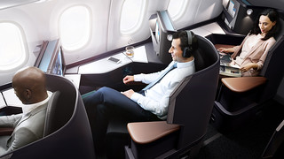 West Jet - business class relaxing