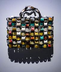 The Desgner Handbag (Steve Taylor (Photography)) Tags: handbag corrugatediron bag art sculpture museum colourful metal newzealand nz southisland canterbury christchurch shape corrugated canterburymuseum jeffthomson corrugationstheartofjeffthomson