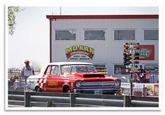 Juggernaut (bogray) Tags: racecar dragrace dragstrip vintage historic restored preserved nostalgiadragracing funnycarchaos victorynss 65plymouth belvedere juggernaut smokinmokan mokandragway since1962 asbury mo redlineshirtclub