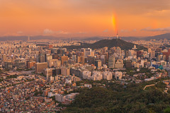 Seoul City. (Kim Jin Ho) Tags: seoul korea tourist famous place travel destination rainbow sunset skyline skyscraper cityscpae nightview urban scene landscape red yellow