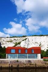 Grand Designs House (scott_steelegreen) Tags: grand designs channel 4 cnl4 c4 uk architecture modern concrete steel riverside chalk cliffs east sussex clouds blue sky summer sandyrendel