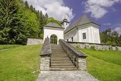 church of St. Egidius in Johnsbach (a7m2) Tags: johnsbach admont bergsteigerfriedhof church tragödien tradition gesäuse mountains ennstal bergsteigen wandern klettern