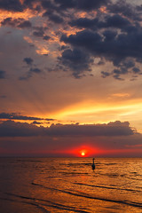 Sunset (©Andrey) Tags: jurmala lettonie dzintari sunset seaside baltic gulf outdoor spring ef5014 clouds water sky sun red gold