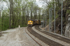 NS 132 at Harriman JCT (travisnewman100) Tags: norfolk southern train railroad manifest rr freight union pacific up emd sd70ah 132 harriman jct cnotp 3rd district alabama division