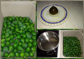 Τhe first figs of the season, figs are still young but perfect to be dipped whole in syrup.