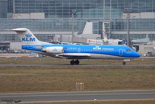Fokker 70 KLM PH-KZL 11536 Francfort février 2016