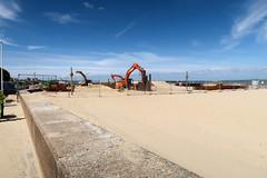 Isle of Wight Coast Path: Ryde beach - stream rechanelling (Carneddau) Tags: isleofwight ryde civilengineering newstreamchannel england unitedkingdom gb
