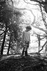 the main consideration (Pea Jay How) Tags: may spring boots outdoor outdoors outside bw blackandwhite monochrome mono portrait nature trees woodland woods boys children boy child