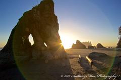 Ruby Beach Twin Eye Rock (anthonymaw) Tags: anthonymaw beach coast landscape pacific sunset usa washington