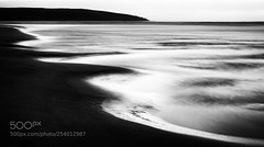 Quiet Time (vinayakjnavalur1) Tags: ifttt 500px black white beach long exposure little stopper cornwall cornish sand waves silver ethereal headland curves lead lines crantock newquay blue hour night evening