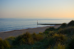 Quiet beach - 9pm (S Rizzo) Tags: nikon sam rizzo photography d7200 flickr beach sunset color colourful colour bournemouth poole hengistbury head quiet time grass sand yellow
