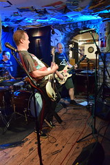 DSC_0220 (richardclarkephotos) Tags: love guitar lesser known character band three horseshoes bradford avon wiltshire uk guitars guitarists bass lead bassist drums drummer live music © richard clarke photos richardclarkephotos cat pub venue