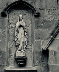 Mother Mary (J Holmes-Leather) Tags: statue church mary stone building street southport england uk leica faith
