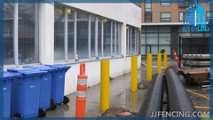 JJFencing.com_Security_post_bollard_fence_5 (JJFencing) Tags: security post bollard chain link installation repair fence vancouver bc canada surrey delta burnaby new westminster residential commercial fences jj fencing inc jjfencing jjfencingcom