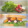 From Garden to Table... (KissThePixel) Tags: radish sandwich bread fishfingers homegrown garden gardener creativephotography tabletop tabletopphotography rocket lettuce leaf mygarden spring may nikon nikondf macro bokeh yummy food