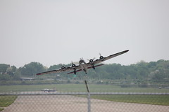 Wright Patterson Field Flight Ops (Bryan Redeker BRGT350) Tags: b17g flying fortress p51 mustang memphis belle yankee lady bryanredeker brgt350 aluminum overcast mighty 8th air force