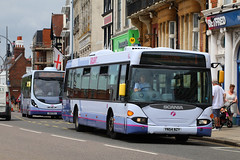 YN54 NZY, Portsmouth Harbour, June 23rd 2017 (Southsea_Matt) Tags: 65024 yn54nzy route1 scania cn94ub omnicity portsmouthharbour portsmouth england unitedkingdom hampshire june 2017 summer canon 80d firsthantsdorset bus omnibus vehicle transport thehard