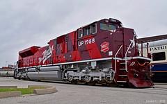 "UP SD70ACe No. 1988 - MKT Heritage Unit - in Kansas City, MO (""Righteous"" Grant G.) Tags: mkt katy missouri kansas city texas railroad emd power train trains engine heritage unit union station up"