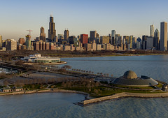 Solidarity Drive (player_pleasure) Tags: chicago chicagoist cityscape downtown solidaritydrive morning inspire1pro drone lakemichigan water adlerplanetarium shedaquarium