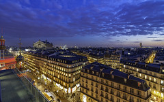 Paris Cityscape (Enrique EKOGA) Tags: paris france îledefrance city cityscape down sunset bluehour clouds buildings light nikon ultrawideangle d800e colors operagarnier architecture travel haussmannarchitecture