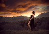Expecting ({jessica drossin}) Tags: jessicadrossin portrait photography sunset clouds cloud overlays sky mountains horizon woman mother pregnant maternity belly wwwjessicadrossincom