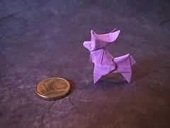 Moose (K. Kasahara) (Helyades) Tags: origami pli pliage fold kasahara animal moose elan carré square papier paper tissue soie tiny
