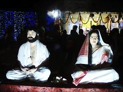 Ordinary street people replicating God Ramkrishna _Sarada Devi (SHAN DUTTA) Tags: performingarts livingstatueperformers ramkrishna paramahamsa sarada devi