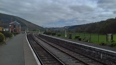Carrog 040518_134841 (Leslie Platt) Tags: carrogstation denbighshire deevalley llangollenrailway heritagedieselrailcar straightened exposureadjusted