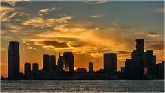 Sunset over the Hudson (beninfreo) Tags: new york nyc ny usa newyork newyorkcity sony rx100m3 clouds architecture building hudsonriver sunset