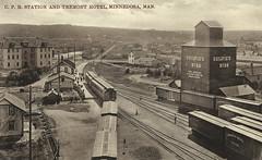 Minnedosa - CP Rail Station (vintage.winnipeg) Tags: manitoba canada vintage history historic minnedosa